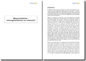 Moyennisation : homogénéisation ou fracture?