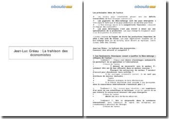 Jean-Luc Gréau : La trahison des économistes