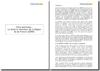 Le Schéma Directeur de la Région Ile-de-France (SDRIF)