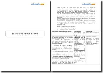 Taxe sur la valeur ajoutée : Champ d'application, exigibilité, déductibilité, déclaration et paiement