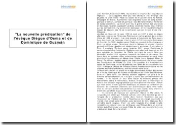 La nouvelle prédication de l'évêque Diègue d'Osma et de Dominique de Guzmán