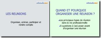 Les réunions: organiser, animer, participer et rendre compte