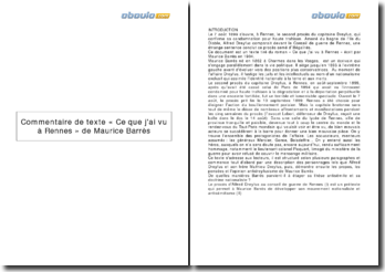« Ce que j'ai vu à Rennes » de Maurice Barrès