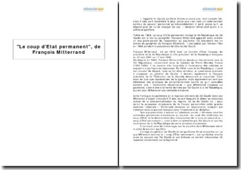 Le coup d'Etat permanent, de François Mitterrand