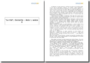 Le Cid, Corneille - Acte I, scène 4