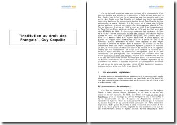 Institution au droit des Français, Guy Coquille