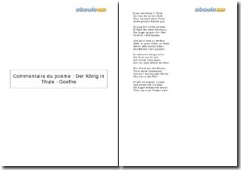 Commentaire du poème : Der König in Thule - Goethe