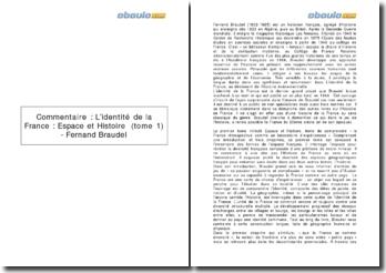 L'identité de la France : Espace et Histoire (tome 1) - Fernand Braudel