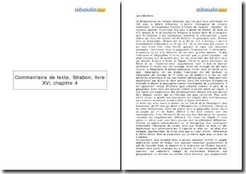 Strabon, livre XVI, chapitre 4