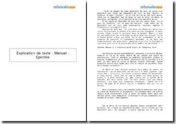 Explication de texte : Manuel - Epictète