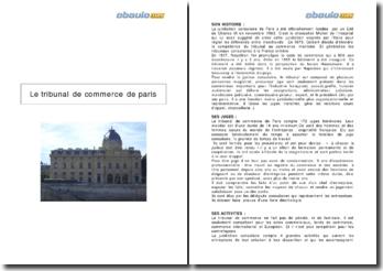 Le tribunal de commerce de Paris