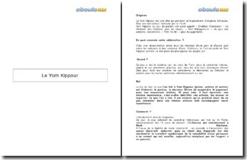 Le Yom Kippour