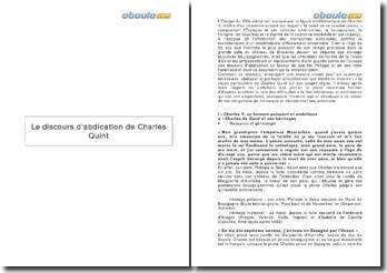 Le discours d'abdication de Charles Quint