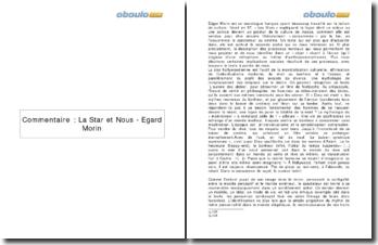 La Star et Nous - Egard Morin