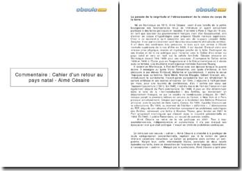 Cahier d'un retour au pays natal, d'Aimé Césaire