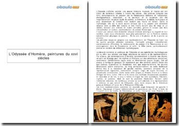 L'Odyssée d'Homère, peintures du xxvi siècles