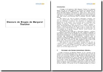 Discours de Bruges de Margaret Thatcher