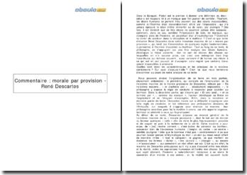 Morale par provision - René Descartes