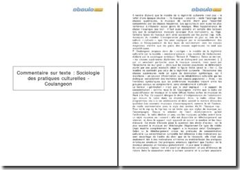 Sociologie des pratiques culturelles - Coulangeon