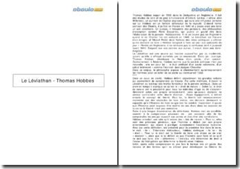Le Léviathan - Thomas Hobbes