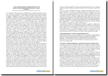 Article 16 de la Déclaration des droits de l'Homme et du citoyen