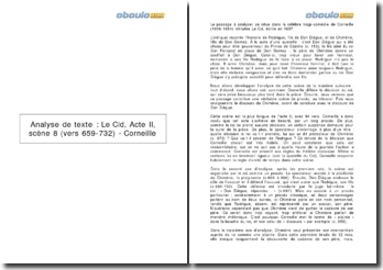 Le Cid, Acte II, scène 8 (vers 659-732) - Corneille