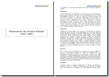 Présentation de Fernand Braudel (1902-1985)