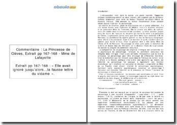La Princesse de Clèves, Extrait pp 167-168 - Mme de Lafayette