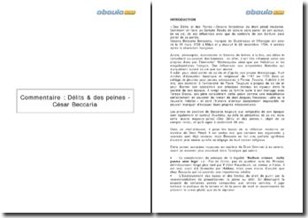 Des délits & des peines - César Beccaria