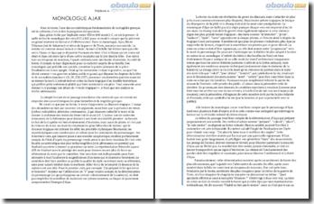 Monologue d'Ajax - Sophocle