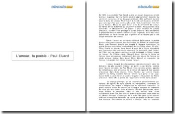 L'amour, la poésie - Paul Eluard
