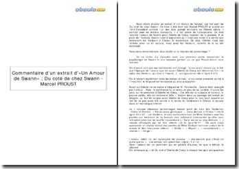Extrait d'«Un Amour de Swann» ; Du coté de chez Swann - Marcel PROUST