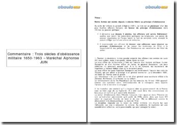Trois siècles d'obéissance militaire 1650-1963 - Maréchal Alphonse Juin