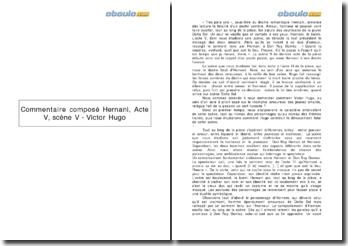Commentaire composé Hernani, Acte V, scène V - Victor Hugo