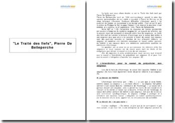 Le Traité des fiefs, Pierre De Belleperche