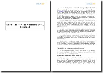 Extrait de Vie de Charlemagne, Éginhard