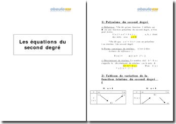 Les équations du second degré