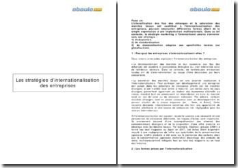 Marketing international : Les stratégies d'internationalisation des entreprises