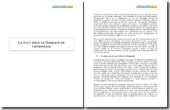 La mort dans Le Guépard de Lampedusa