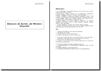 Discours de Zurich, de Winston Churchill