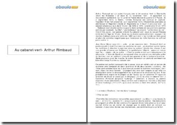 Au cabaret vert - Arthur Rimbaud