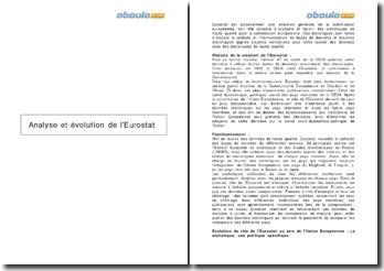 Analyse et évolution de l'Eurostat