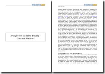 Analyse de Madame Bovary - Gustave Flaubert