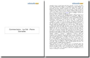Commentaire : Le Cid - Pierre Corneille