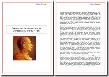 Biographie de Montesquieu (1689-1755)