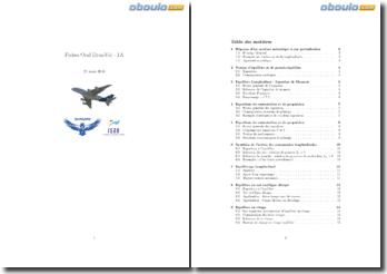 Analyse de la dynamique du vol d'un avion (notion d'équilibre, propulsion et équilibrage)