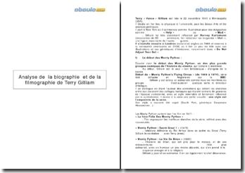 Analyse de la biographie et de la filmographie de Terry Gilliam