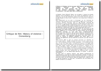 Critique de film: History of violence - Cronenberg