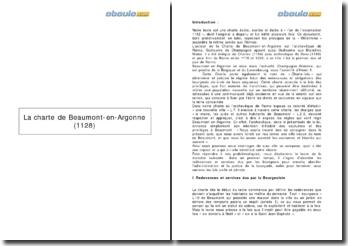 La charte de Beaumont-en-Argonne (1128)