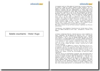 Soleils couchants - Victor Hugo